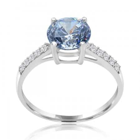 Oval Blue Sapphire 4 Prong...
