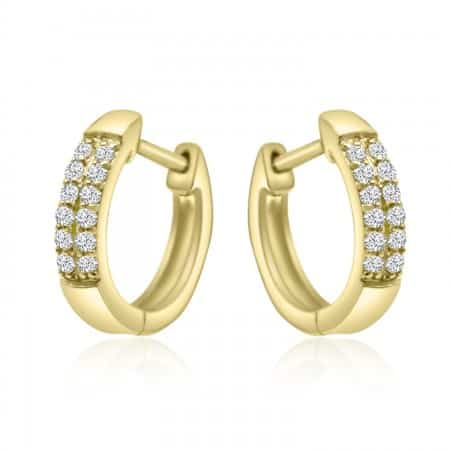 Diamond Pavé Hoop Earrings...
