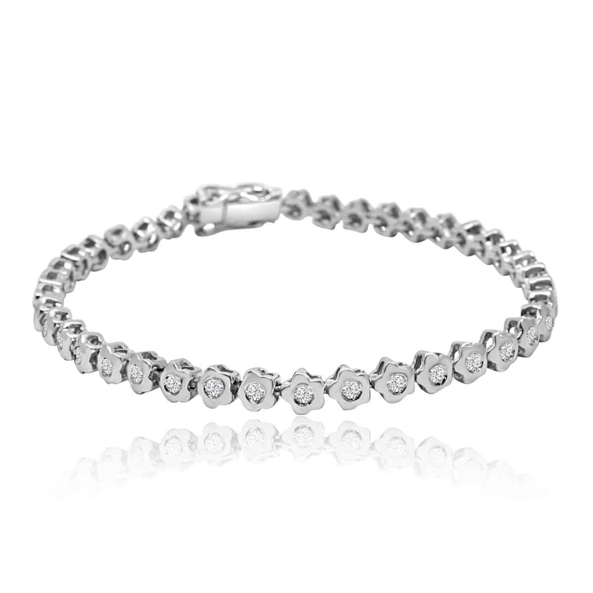 Tennis Bracelet In 18k White Gold