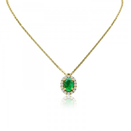 Oval Cut Emerald and...