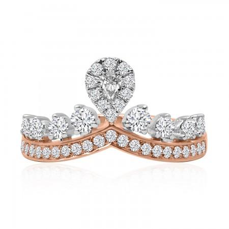 18K Rose Gold Diamond Crown...