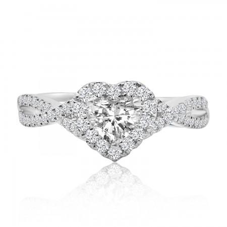 Cluster Ring Diamond Heart...