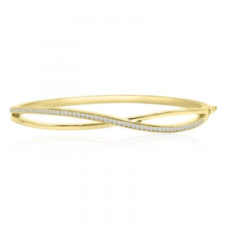 Infinity Bangle Bracelet in...