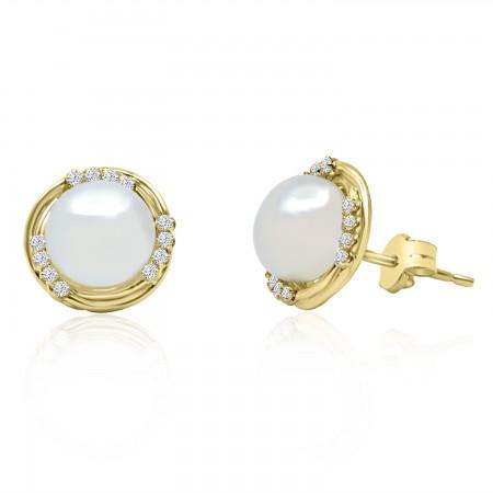 Dormilonas de Oro con Perlas