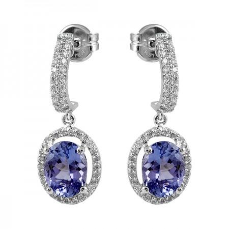 Tanzanite and Diamond Drop...