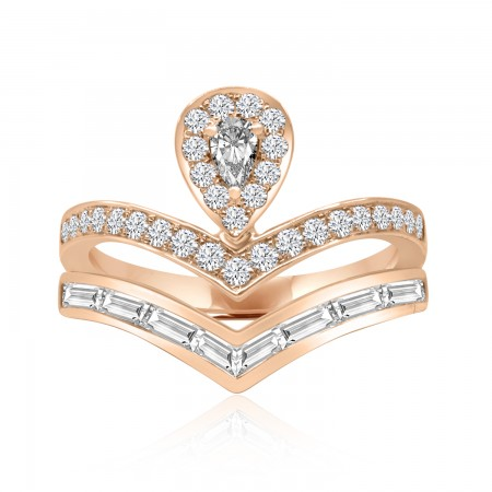 Diamond Halo Ring in 18k...