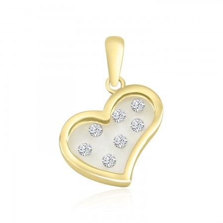Heart Pendant in 18k Yellow...