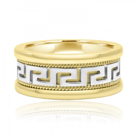 18k Two Tone Gold Versace Ring - Rings