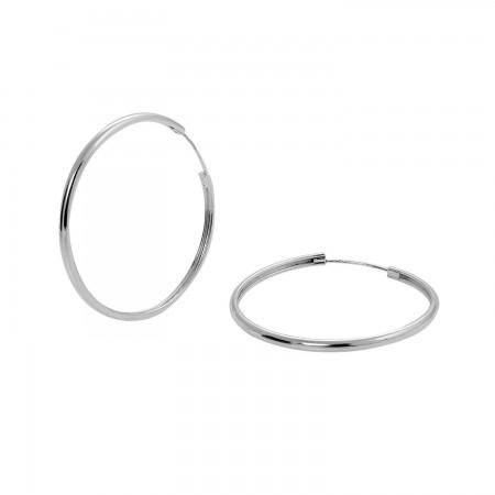 Hoop Earrings 40x3 mm.
