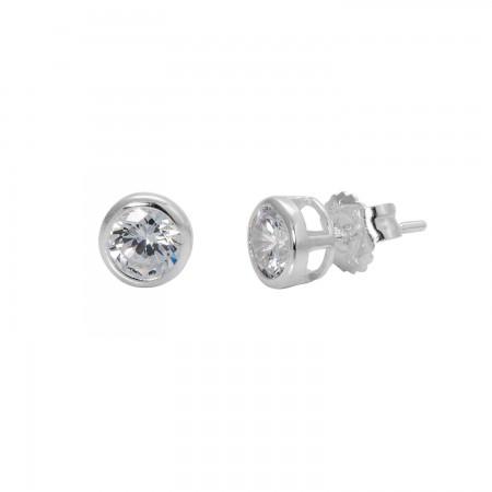 Zirconias Earrings 5 mm.