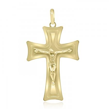 18k Yellow Gold Cross Pendant.