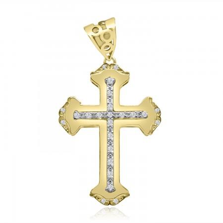Colgante Cruz de Oro 18k.