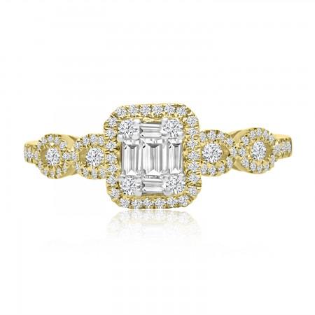 Diamond Cluster Ring in 18k...
