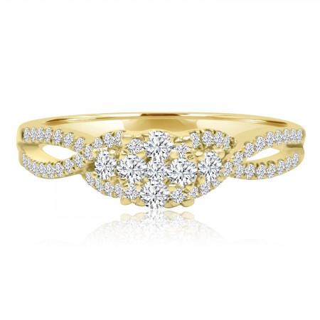 Round Diamond Cluster Ring...