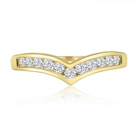 0.32 Carat Diamond Wishbone...