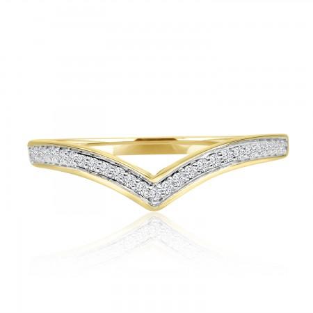 0.10 Carat Diamond Wishbone...