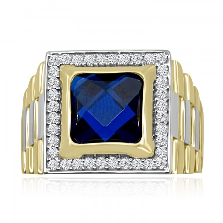 Sapphire Signet Ring in 18k...