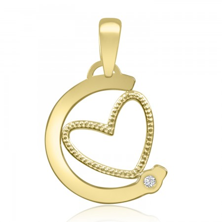 18k Yellow Gold Heart Pendant