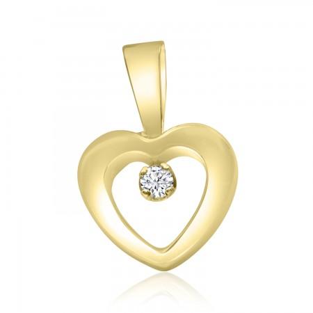 Colgante Corazón en Oro 18k