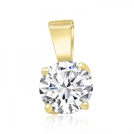 18K Yellow Gold White Sapphire