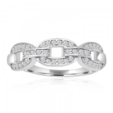 Link Ring in 925 Sterling...