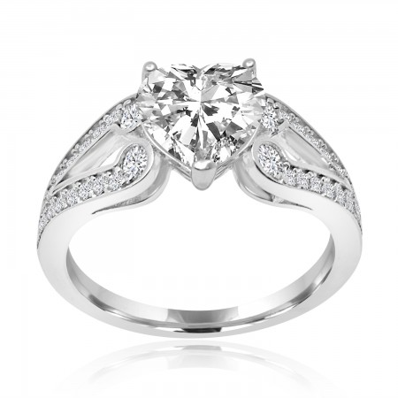 Heart Solitaire Ring in 925...
