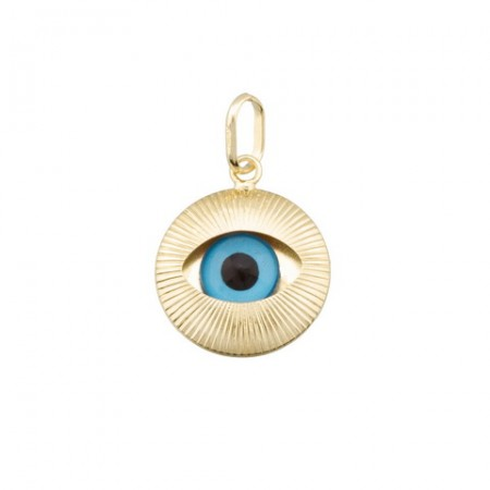 Turkish Eye Pendant in 18k...