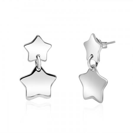 Star Earrings in Sterling...