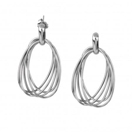 Oval Hoop Earrings  - Vidal...