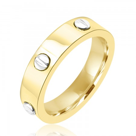 18k Two Tone Gold Inset...