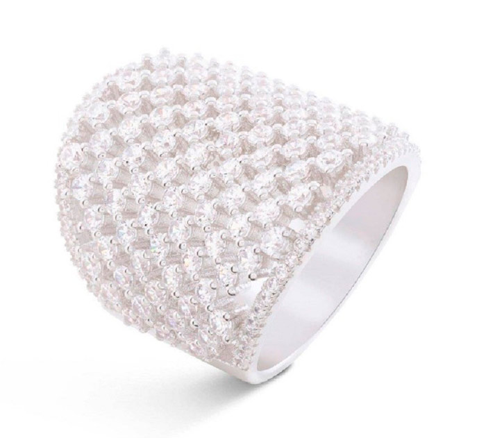 luxenter white cocktail ring