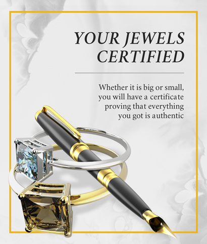 Your jewels certified